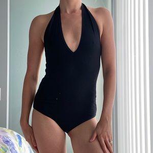 American Apparel Deep Plunge Bodysuit